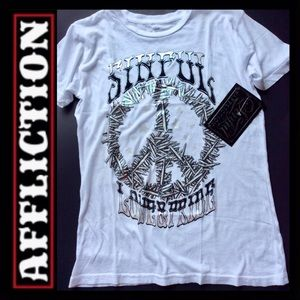 BNWT AFFLICTION Love & Pride T-Shirt